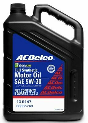What Is Dexos Oil >> 5 Quarts Acdelco Full Synthetic Sae 5w 30 Gen 2 Dexos1 Motor