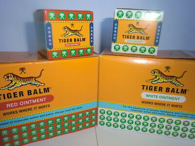 Tiger Balm 21ml Red or White Fresh Stock Always Expiry 2022 Uk Seller