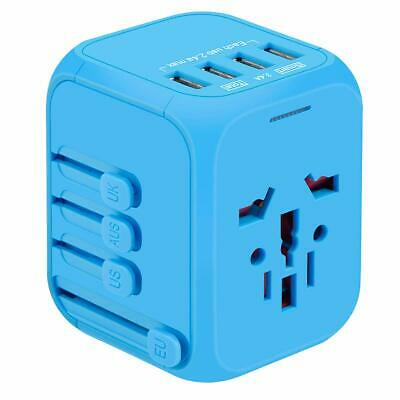 International Travel Adapter, YVELINES Upgraded All-in-One Universal Travel Blue