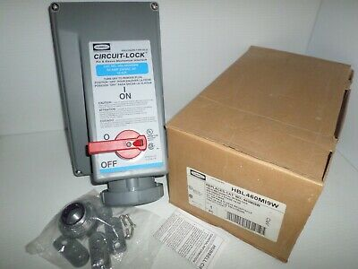 NEW IN BOX HUBBELL HBL460MI9W 60-Amp PIN&SLEEVE CIRCUIT-LOCK RECEPTACLE 60A 240V