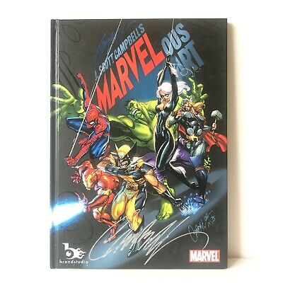 MARVELous Hard Cover By J Scott Campbell Limited Marvel Artbook *Rare Signed*