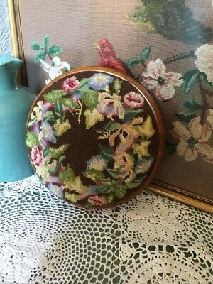 Pretty Vintage Styled Tapestry Foot Stool/Kneeler #4834