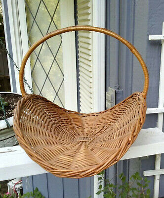 Wicker Trug (Flower Basket), 1900-1910, English, In Pristine Condition. Rare