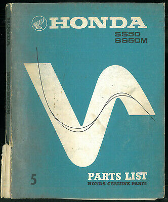 Parts List HONDA SS 50 - SS50 M de 1966 à 1973 Catalogue de pièces Manuel Manual
