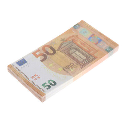 100x 50 Euro Notes Money Stage Props Magic Props Card Tricks Films Movie