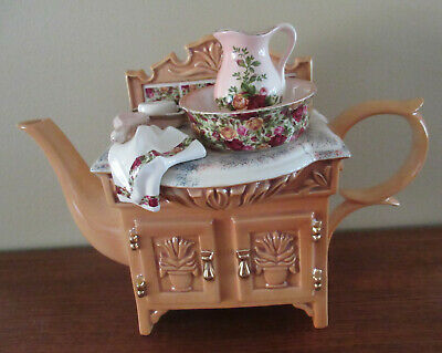 Royal Albert Cardew Design Old Country Roses Chintz Collection Sink Tea Pot 1996