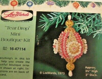 LeeWards JEWELED DUET Sequin Bead Christmas Ornament Kit Vintage NOS Boutique