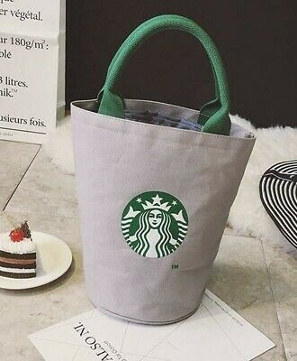 Starbucks Reusable Canvas Tote Bag, Coffee, Grey, Fashionable, Earth, Recycle
