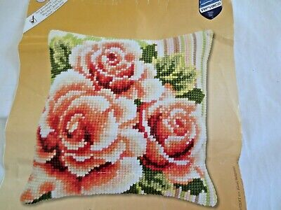 Vervaco Craft Cross Stitch Cushion Kit With Tapestry Wools