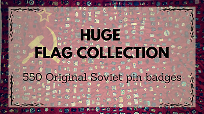 550 Soviet Medals & pins + USSR flag - 100% Original USSR Badges