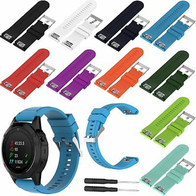 Silicone Replacement Watch Strap for Garmin Fenix 3/HR/Sapphire GPS Watch 26mm