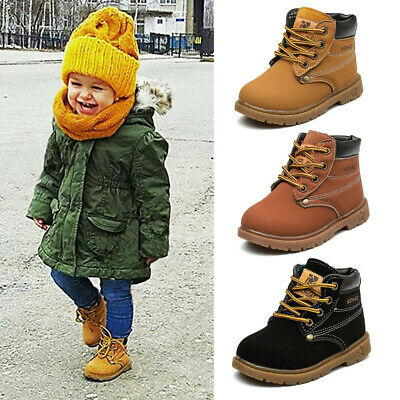 Autumn Winter Kids Toddler Infant Baby Girls Boys  Fashion  Boots Shoes Sneakers
