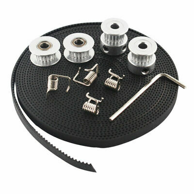 14pcs Gt2 Timing Belt+20 Teeth Bore Pulleys+Idlers+Torsion Springs Equipment Set