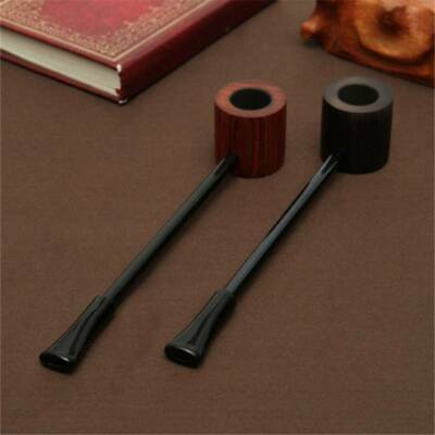 Red Wood Durable Wooden Smoking Pipe Tobacco Cigarettes Cigar Pipes New Gift BS