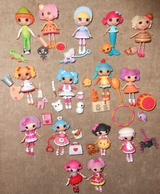 Lalaloopsy Mini Bulk Lot 15 With Pets And Accessories Includes 4 Complete Sets