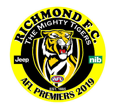 Richmond Tigers 2019 AFL Premiership 57mm button badge