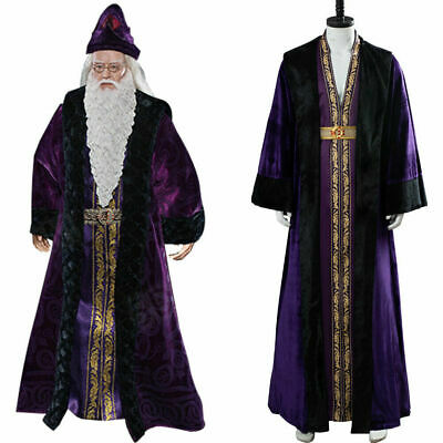 Harry Potter Cosplay Albus Dumbledore Costume Halloween Suit Cape Full Set