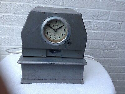 Vintage Clocking-in Time Clock Theatrical Prop Industrial Decor