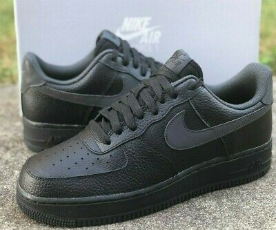 Nike Air Force 1 07 Casual Shoes Ci0059-001 Black / Anthracite Grey New Mens