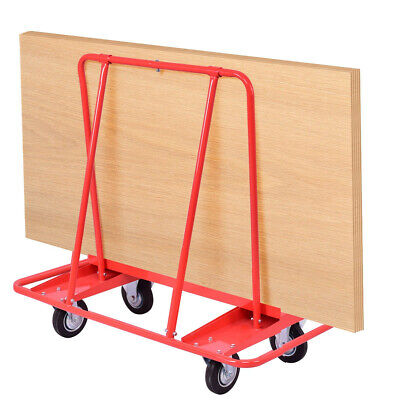 Heavy Duty Drywall Sheet Car Sheetrock Panel Handling Dolly Steel Swivel Wheels