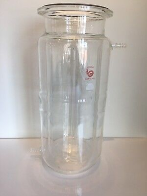 Wilmad Labglass Jacketed Indented Glass Reaction Vessel 4L