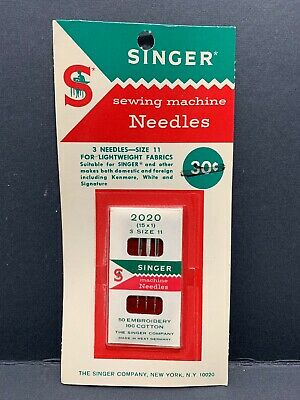 Vintage Singer Sewing Machine Needles 15X1  2020 Size 11 Made In West Germany