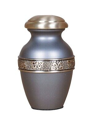 Mini Keepsake Urn For Ashes Cremation Funeral Memorial Small Token Urn Grey