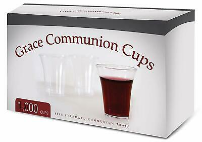 Grace Communion Cups - Box of 1000 - Plastic Disposable Fits Standard Holy