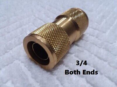 Brass Push Quick Connect Nylon Straight Union Fitting 3/4. 1 Each