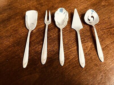 5pc Vintage Meriden Silverplate Co Mini SERVING SET First Lady 5.5""