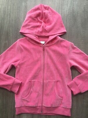 Next Girls Pink Velour Hoody Cardigan Jumper Top Vgc Hardly Worn 8 Years