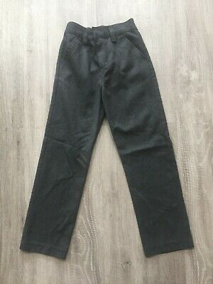Next Boys School Trousers 8 Years Slim Charcoal Grey Vgc