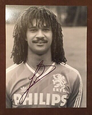 Ruud Gullit, AC Milan & Holland, Chelsea signed 8x10 photo autographed