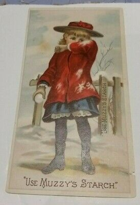 Victorian Trade Card Muzzy Starch Co Elkhart Indiana