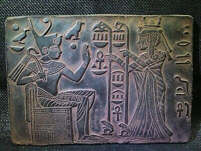 EGYPTIAN ANTIQUE ANTIQUITIES Tutankhamen And Wife Stela Stele 1355-1342 BC