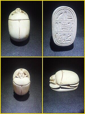 EGYPTIAN ANTIQUE ANTIQUITIES Scarab Beetle Khepri Figure Sculpture 1549-1175 BC