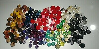 LOT of Vintage bakelite celluloid plastic glass pearl buttons. Over 400pcs.