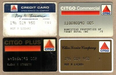 Citgo Petroleum Company Oil Credit Cards: 4 Different