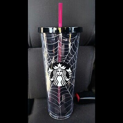 Starbucks Halloween Tumbler 2019 Glitter Spiderweb Cup Limited Edition Fall
