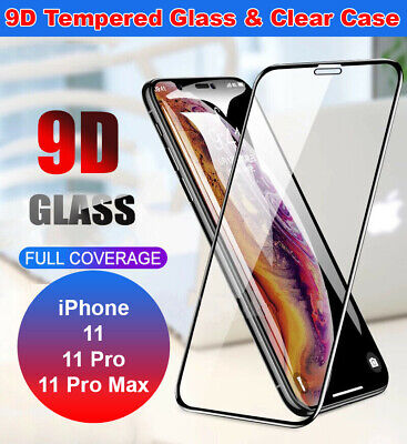 Screen Protector for iPhone 11 11 Pro Max 9H 9D Curved FULL COVER TEMPERED GLASS