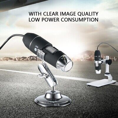 1000X 8LED USB 2.0 Digital 2MP Microscope Endoscope Zoom Camera Magnifier+ Stand