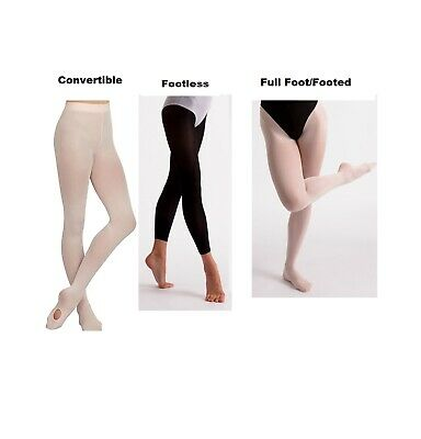 Dance Tights Girls Women's Convertible Footed Footless Soft Ballet Tights