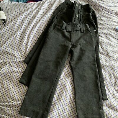 Boys Age 3 Grey School Trousers Next Good Condition Adjustable Waist Slim Fit