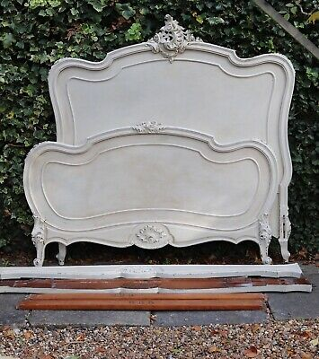 Painted Antique French Bed