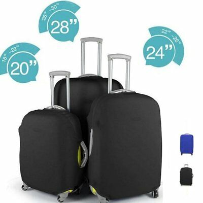 """20-28"""" Elastic Solid Luggage Cover Travel Suitcase Protector Dust-proof Cover"""