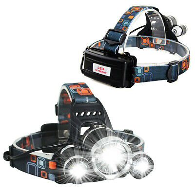 12000LM 3 x XML CREE T6 LED Rechargeable HeadTorch Headlamp Light Lamp Great