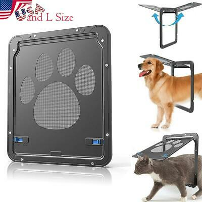 USA Auto Pet Dog Cat Screen Door Window Magnet Footprint Doggie Flap Safe Gate