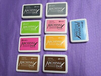 Lot Of 9 - Ranger Archival Ink Pads