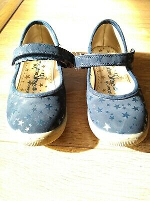 Girls George Navy Blue Star Shoes Size 10