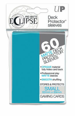 120 Ultra Pro Deck Protector Small Pro-Matte Eclipse Sky Blue Sleeves Ygo Vgd